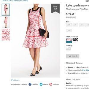 Kate spade floral dress
